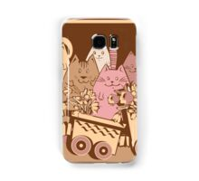 Amusing cartoon toy train cats design Samsung Galaxy Case/Skin