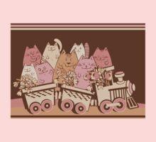 Amusing cartoon toy train cats design Baby Tee