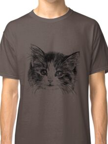 Cartoon purple cat Classic T-Shirt