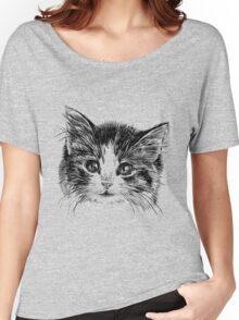 Cartoon purple cat Women's Relaxed Fit T-Shirt