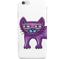 Cartoon purple cat iPhone Case/Skin