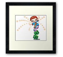 Karate kid design Framed Print