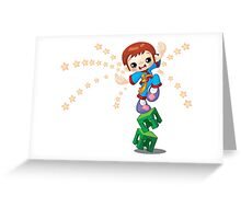 Karate kid design Greeting Card