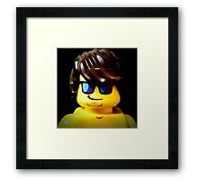The Lego Lifeguard is always looking out Framed Print