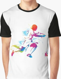 Colorful footballer chasing the ball graphics Graphic T-Shirt