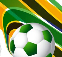 Brazil flag concept stylish wave soccer Sticker