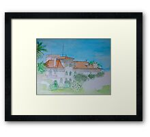 Watercolour View of a Portuguese House Framed Print