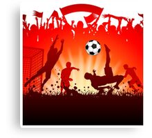 Soccer abstract style backgrounds Canvas Print