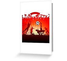 Soccer abstract style backgrounds Greeting Card