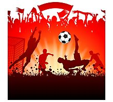 Soccer abstract style backgrounds Photographic Print