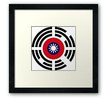 Korean Taiwanese Multinational Patriot Flag Series Framed Print