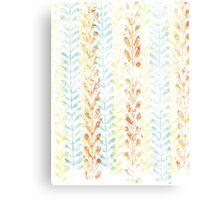 Vine Pattern - Summer Pastel Canvas Print