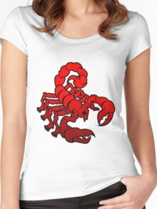 hybrid scorpion mutated mutan animal insect skull tshirt Women's Fitted Scoop T-Shirt