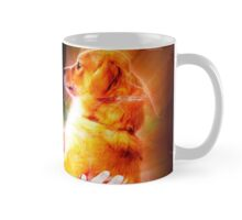 Digitally enhanced image of Human and Dog face to face  Mug