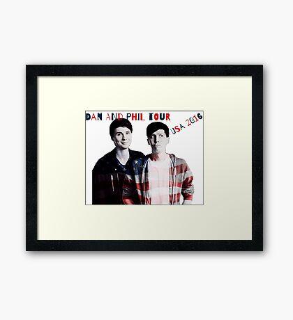 Dan and Phil Tour 2016 Framed Print