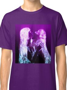 Digitally enhanced image of Human and Dog face to face  Classic T-Shirt