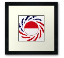 Indonesian American Multinational Patriot Flag Series Framed Print