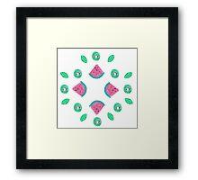 Watermelon and kiwi pattern Framed Print