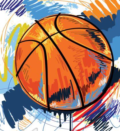 Basketball graffiti art Sticker
