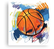 Basketball graffiti art Canvas Print