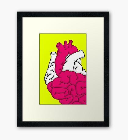 Smart Heart Framed Print