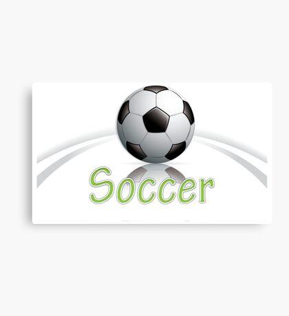 Soccer ball graphics Canvas Print