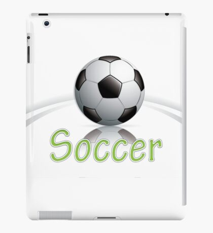 Soccer ball graphics iPad Case/Skin