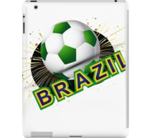 Soccer beautiful texture with brazil colors iPad Case/Skin