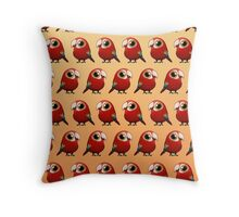 Cute Fat Macaw Throw Pillow