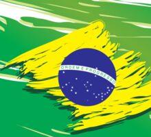 Brazil flag stylized Sticker