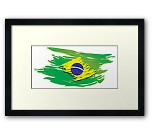 Brazil flag stylized Framed Print
