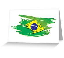 Brazil flag stylized Greeting Card