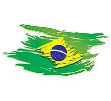 Brazil flag stylized Photographic Print