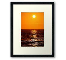 Low Sun on Sea Framed Print