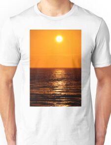 Low Sun on Sea Unisex T-Shirt