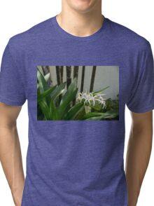 A Garden Like an Ikebana Flower Arrangement Tri-blend T-Shirt