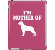 mother of rottweiler iPad Case/Skin