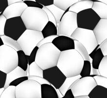 Huge collection of soccer balls Sticker