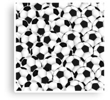 Huge collection of soccer balls Canvas Print
