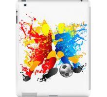 Football players splash with a soccer ball iPad Case/Skin