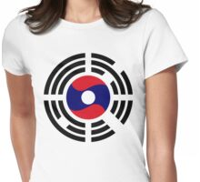 Korean Laotian Multinational Patriot Flag Series Womens Fitted T-Shirt