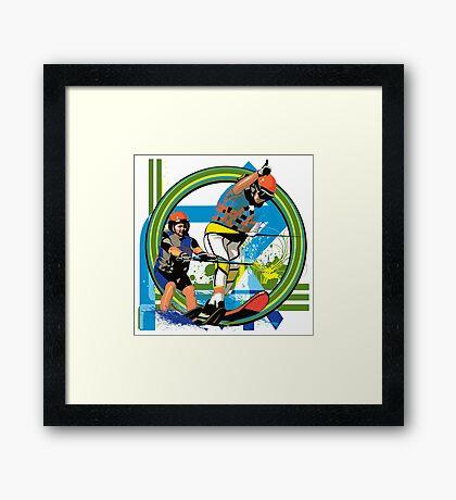 Water skiers Framed Print