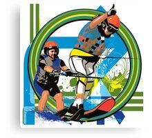 Water skiers Canvas Print