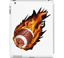 Realistic American football in the fire iPad Case/Skin
