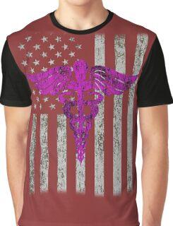 USA Flags american nurse gift Graphic T-Shirt