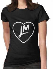 Little Mix LM - White Text Womens Fitted T-Shirt