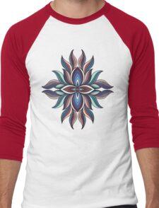 Abstract colorful symmetric kaleidoscope element. Mandala design Men's Baseball ¾ T-Shirt