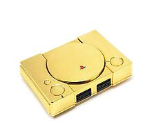 Gold Playstation Photographic Print