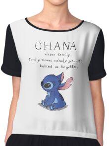 Ohana means family Chiffon Top