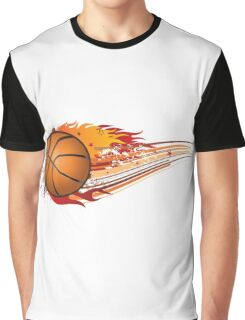 Basketball in fire Graphic T-Shirt